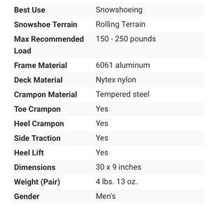 Other - EUC Atlas men's snowshoe 1030